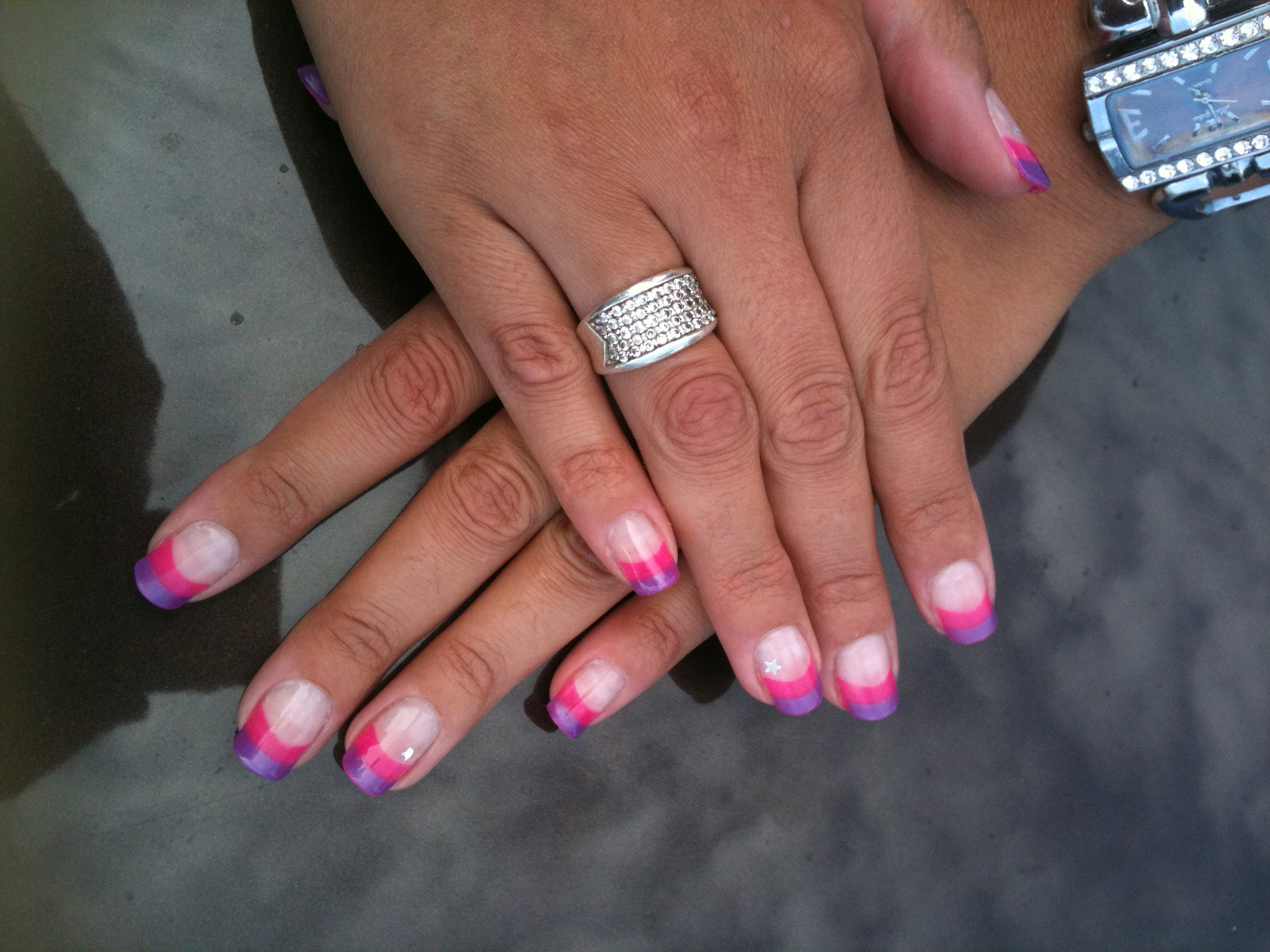 Enjoy Nail 39 S Jessica Et Tiana French 2 Couleurs